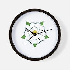 Heraldic Rose Wall Clock