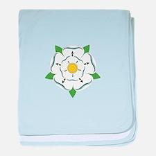 Heraldic Rose baby blanket