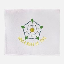 Rose Of York Throw Blanket