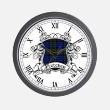 Fletcher Tartan Shield Wall Clock