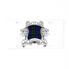 Fletcher Tartan Shield Aluminum License Plate