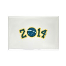 Worl cup Brazil 2014 Rectangle Magnet