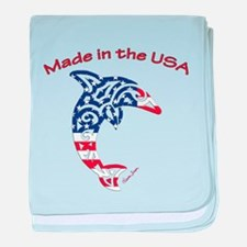 Made in the USA Tribal Dolphin baby blanket