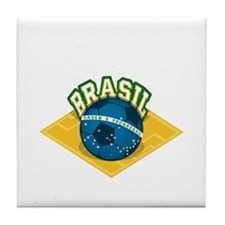 Brazil worl cup Tile Coaster
