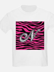 HOT PINK ZEBRA SILVER N T-Shirt