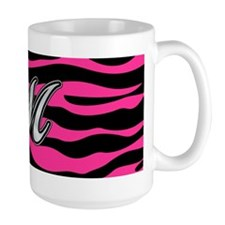 HOT PINK ZEBRA SILVER M Mugs