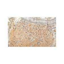 Vintage Map of Antwerp Belgium (190 3'x5' Area Rug