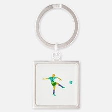 Soccer Square Keychain