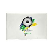 Brazil soccer Rectangle Magnet