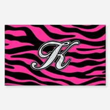 HOT PINK ZEBRA SILVER K Decal