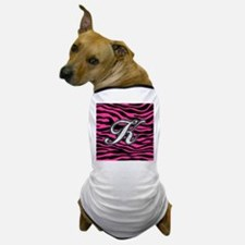 HOT PINK ZEBRA SILVER K Dog T-Shirt