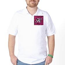HOT PINK ZEBRA SILVER K T-Shirt