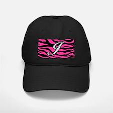 HOT PINK ZEBRA SILVER J Baseball Hat