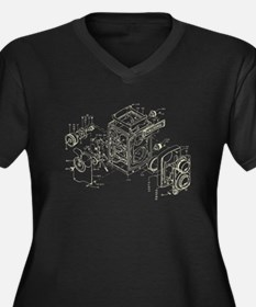 Vintage Camera Graphic Plus Size T-Shirt