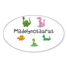 Madelynosaurus Oval Decal