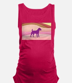 Jack Russell Rainbow Hills Maternity Tank Top