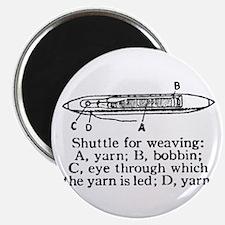 Vintage Weaving Shuttle Diagr Magnet