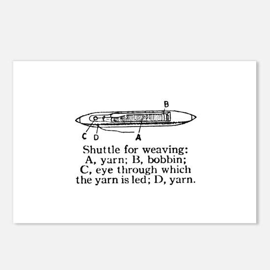 Vintage Weaving Shuttle Diagr Postcards (Package o