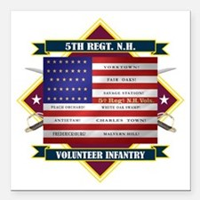 5th New Hampshire Volunteer Infantry Square Car Ma