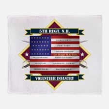 5th New Hampshire Volunteer Infantry Throw Blanket