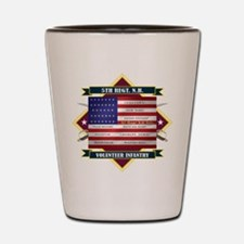 5th New Hampshire Volunteer Infantry Shot Glass