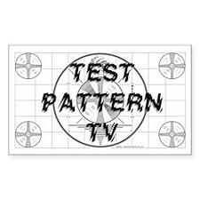 Test Pattern TV Logo Decal