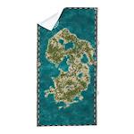 Pirate Adventure Map Beach Towel