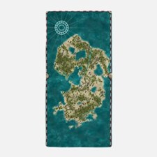 Pirate Adventure Map Beach Towel