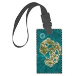 Pirate Adventure Map Luggage Tag