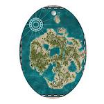 Pirate Adventure Map Ornament (Oval)