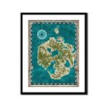 Pirate Adventure Map Framed Panel Print