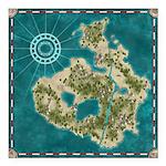 Pirate Adventure Map Square Car Magnet 3