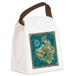 Pirate Adventure Map Canvas Lunch Bag
