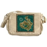 Pirate Adventure Map Messenger Bag