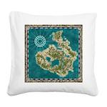 Pirate Adventure Map Square Canvas Pillow