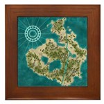 Pirate Adventure Map Framed Tile