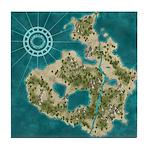 Pirate Adventure Map Tile Coaster