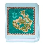 Pirate Adventure Map baby blanket