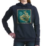 Pirate Adventure Map Women's Hooded Sweatshirt