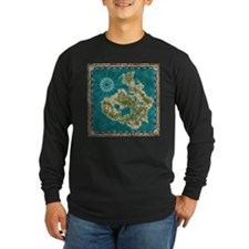 Pirate Adventure Map Long Sleeve T-Shirt