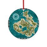 Pirate Adventure Map Ornament (Round)