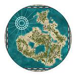 Pirate Adventure Map Round Car Magnet
