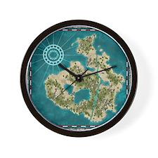 Pirate Adventure Map Wall Clock