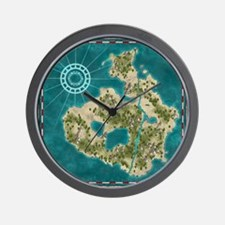 Pirate Adventure Map Wall Clock