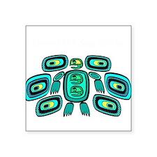 "Cute Native american turtle Square Sticker 3"" x 3"""