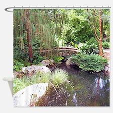 Bridge Over Pond Shower Curtain