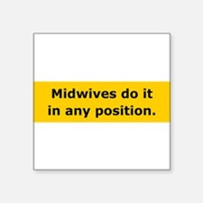 midwives do it Sticker