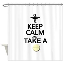 Keep Calm and Take a Chill Pill Shower Curtain