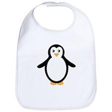 Black and White Penguin Bib