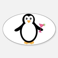 Cocktail Toting Penguin Decal